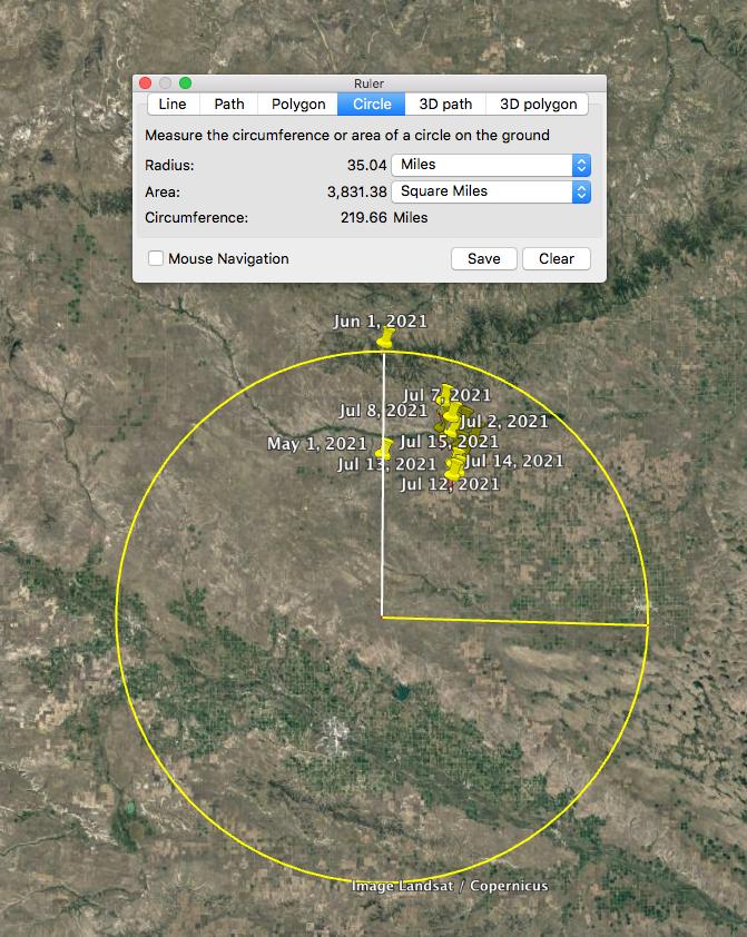 Alpha bison herd migration range