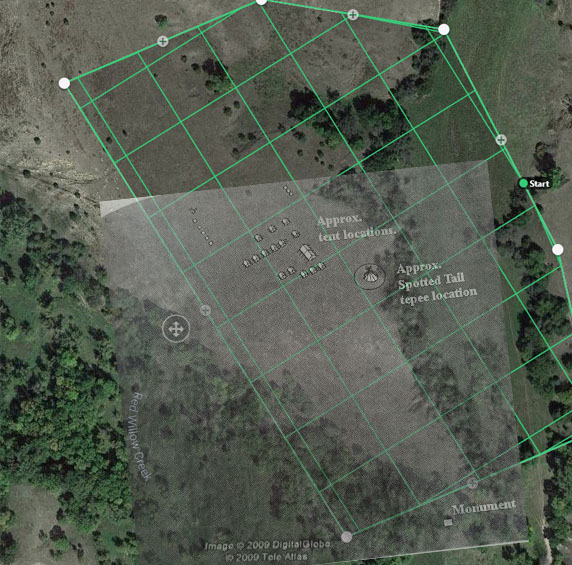 drone grid of Camp Alexis